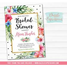 Free Bridal Shower Invite Templates Tropical Themed Wedding Shower Invitations Free Beach Bridal
