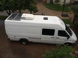 adding a rear rooftop ac to a sprinter van sprinter camper coleman mach 8 installed the rest of the stuff on the roof