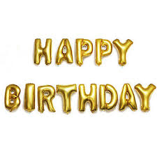 Happy Birthday Balloons Banner Happy Birthday Balloons Banner Gold Foil Letter Balloons For Kids