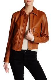 image of helmut lang patch pocket genuine leather jacket