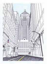 perspective drawings of buildings. Drawing Buildings In Perspective Drawings Of How To Draw 0