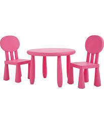 funky plastic chair and table pink at argos co uk your