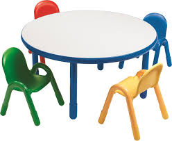 preschool table and chair set. Interesting Chair Angeles Round Baseline Preschool Table And Chair Set In Royal Blue U0026  Reviews  Wayfairca To And Q