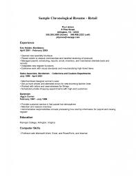 Resume For A Retail Job Retail Job Resume Drupaldancecom Retail