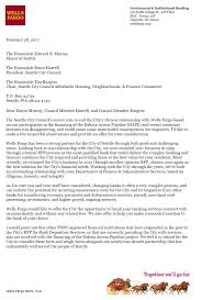 Wells Fargo Sends New Letter To City Offers To End Contract Early