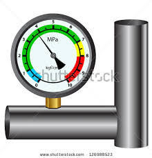 gas manometer. gas manometer isolated on white background e