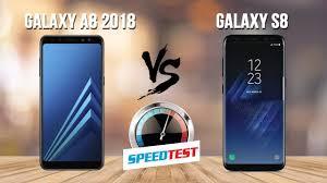 Speedtest - Samsung Galaxy A8 2018 vs Samsung Galaxy S8 - YouTube
