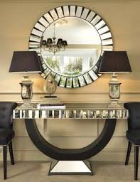 console table mirror beveled mirror