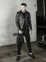 view leather monkeys biker jacket clothing and accessories lookbook look 3