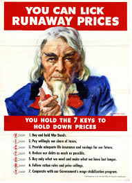 the office poster. World War II Era Poster By The Office Of Economic Stabilization Shows Uncle Sam Urging People To Help Hold Down Inflation. It Lists Seven Keys In Licking