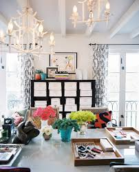 decorative home office. Candle Tray Decor Home Office Eclectic With Flora Arrangement Bright Colors Window Treatments Decorative B