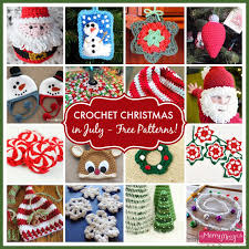 Free Christmas Crochet Patterns Custom Crochet Christmas In July Free Pattern Roundup My Merry Messy Life
