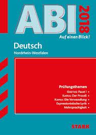 Abi Auf Einen Blick Deutsch Nordrhein Westfalen Stark Verlag