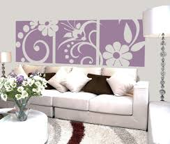Wall Hanging For Living Room Living Room Stunning Purple Nice White Floral Wall Hanging Nice