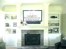 television over fireplace ideas hanging television over fireplace ideas brick within remodel television above fireplace ideas