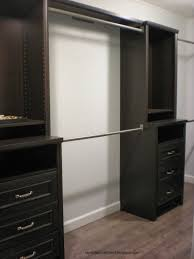 exciting home depot closet organizer with dark wood material for exciting bedroom design