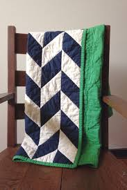 Handmade Herringbone Quilt, Baby Quilt, Gender Neutral, boy quilt ... & Handmade Herringbone Quilt, Baby Quilt, Gender Neutral, boy quilt, navy  blue, Adamdwight.com