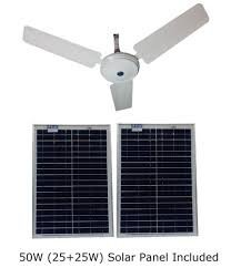 solar dc ceiling fan low power only 24 watts at 12v 50w