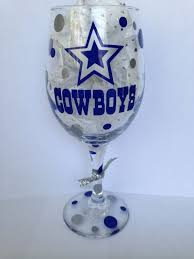 personalized cowboys wine glass google search