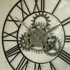 large metal skeleton cog wall clock large metal skeleton cog wall clock