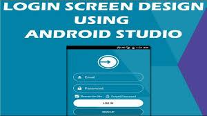 Android Material Design Login Form Xml Ui Design Login Screen Design In Android Studio Android Code Finder
