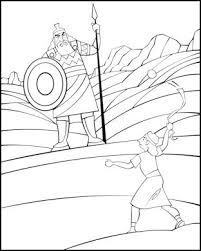 Small Picture Sunday School Coloring Page David and Goliath