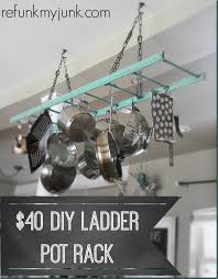 a pot rack is a necessity in our house because the genius who built our home did not build a pantry or much storage space in the kitchen