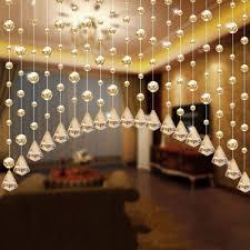 1x luxury glass beads door string tassel curtain wedding divider panel room decor not include the pendant