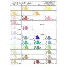 Hero Arts Shadow Ink Color Chart Soft Pool Hero Arts Shadow Ink