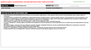 caseworker job descriptionfamily caseworker job description