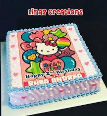 Hello Kitty Theme Birthday Cake Need A Customised Cakes Contact Us