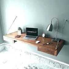 floating desk wall desks mounted with storage walnut ikea canada wit