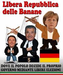 Merkel-De Benedetti e il burattino Renzi