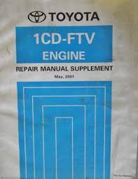 Toyota 1CD-FTV Engine Repair Manual Supplement 2001 RM856E Listing ...