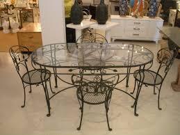 wrought iron table base ravishing astonishing modern dining room decoration using