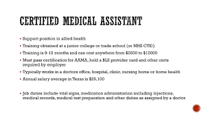 Ob Gyn Medical Assistant Salary Certified Medical Assistant Ppt Download