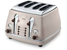 Retro Toasters icona vintage ctov 4003bg beige 4slice toaster delonghi malaysia 4401 by guidejewelry.us