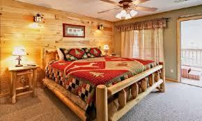 Log Cabin Bedroom Decorating Log Cabin Dcor In Timeless Style The House Decor Elegant Cabin