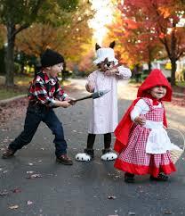 sibling costume idea red ridinghood wolf lumberjack