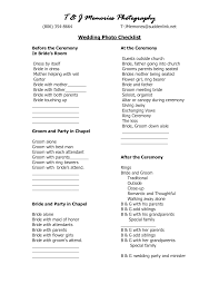 Wedding Photography Checklist Template Wedding Photography Checklist Template Wedding Photo