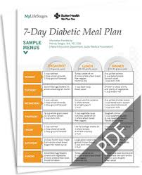 7 day diabetic meal plan diabetic meal plan healthy meal and snack ideas for diabetics