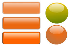 Button Free Stock Photo Illustration Of A Blank Glossy Buttons