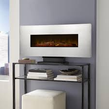 wall mount electric fireplace in zinc