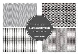 Pattern Collection Beauteous Cute Hand Drawn Pattern Collection Download Free Vector Art Stock