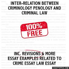 inter relation between criminology penology and criminal law essay inter relation between criminology penology and criminal law