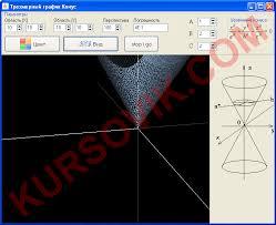 Построение графика конуса Курсовая работа на delphi Дельфи  Курсовая работа delphi