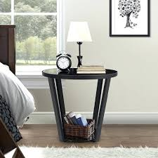 glass round coffee table fashion with storage sofa living room side couch end square ikea