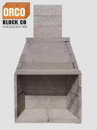 orco burntech modular masonry fireplace kit outdoor living series orcofireplaces