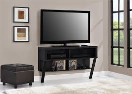 ameriwood furniture layton wall mounted tv stand for tvs up to 47 black oak