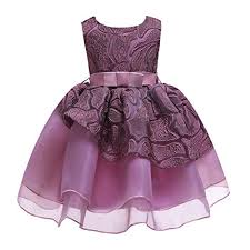 Cichic Girls Dresses 2019 Flower Girl Wedding Dress Elegant Dresses For Party 2 9t 2 3 Years Pink Mauve01